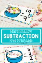 Marshmallow Subtraction Free Printable Activity