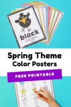 Free Printable Spring Theme Color Posters