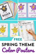 Free Spring Theme Color Posters