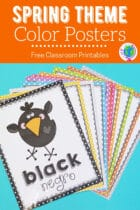 Spring Theme Color Posters Free Classroom Printables