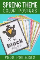 Spring Theme Color Posters