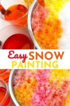 Easy Snow Painting Art Activity