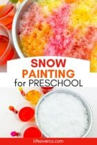 Snow Painting Activity for Preschool