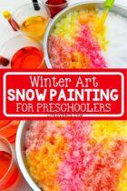 Winter Art Snow Painting for Preschoolers
