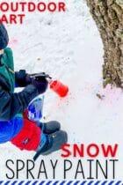 Snow Spray Paint Outdoor Art