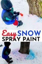 Easy Snow Spray Paint Activity