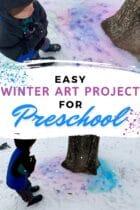 Easy Winter Art Project for Preschool