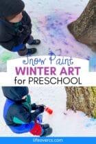 Snow Paint Winter Art for Preschool