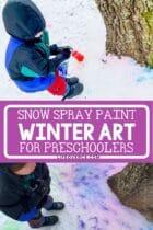 Snow Spray Paint Winter Art for Preschoolers