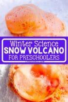 Winter Science Snow Volcano for Preschoolers