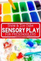 Snow and Ice Cube Sensory Play for Preschoolers