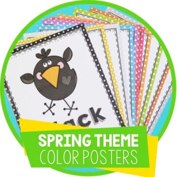 Preschool Color Posters for Spring Theme Featured Square Image