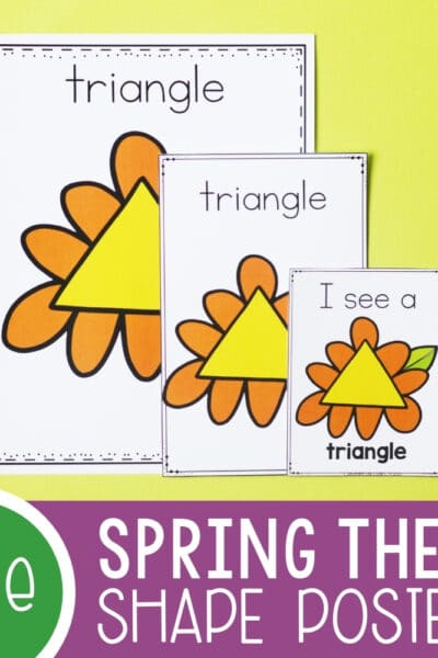Spring Theme Posters Shape Activities Featured Square Image