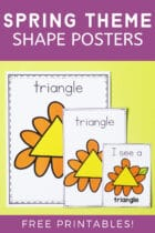 Free Spring Theme Shape Posters Printables for Preschoolers