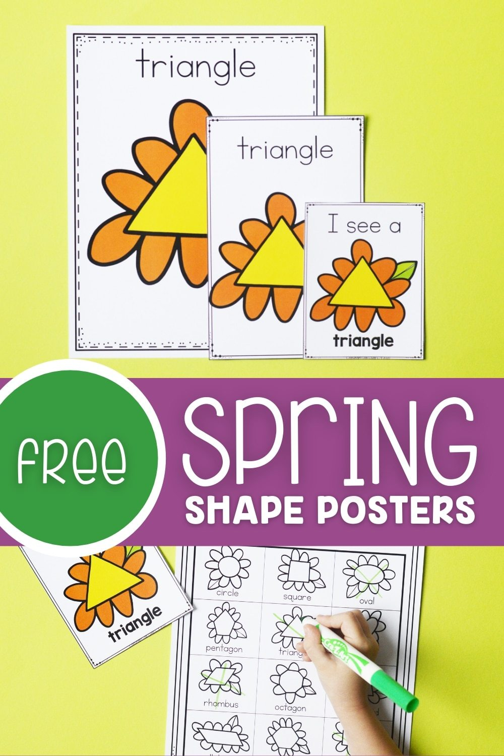 Free Spring Shape Posters Printables
