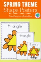 Free Spring Theme Shape Posters Classroom Printables