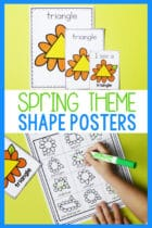 Spring Theme Shape Posters for Preschoolers