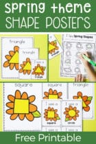 Free Spring Theme Shape Posters Printables