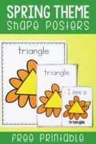 Free Printable Spring Theme Shape Posters