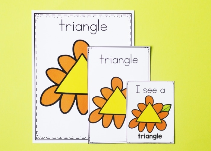 The spring theme posters shape activities printables cut out.