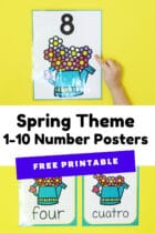 Free Printable Spring Theme 1-10 Number Posters