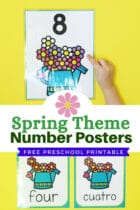 Spring Theme Number Posters Free Printable