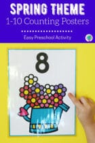 Spring Theme 1-10 Counting Posters Preschool Activity
