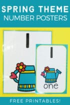 Spring Theme Number Posters