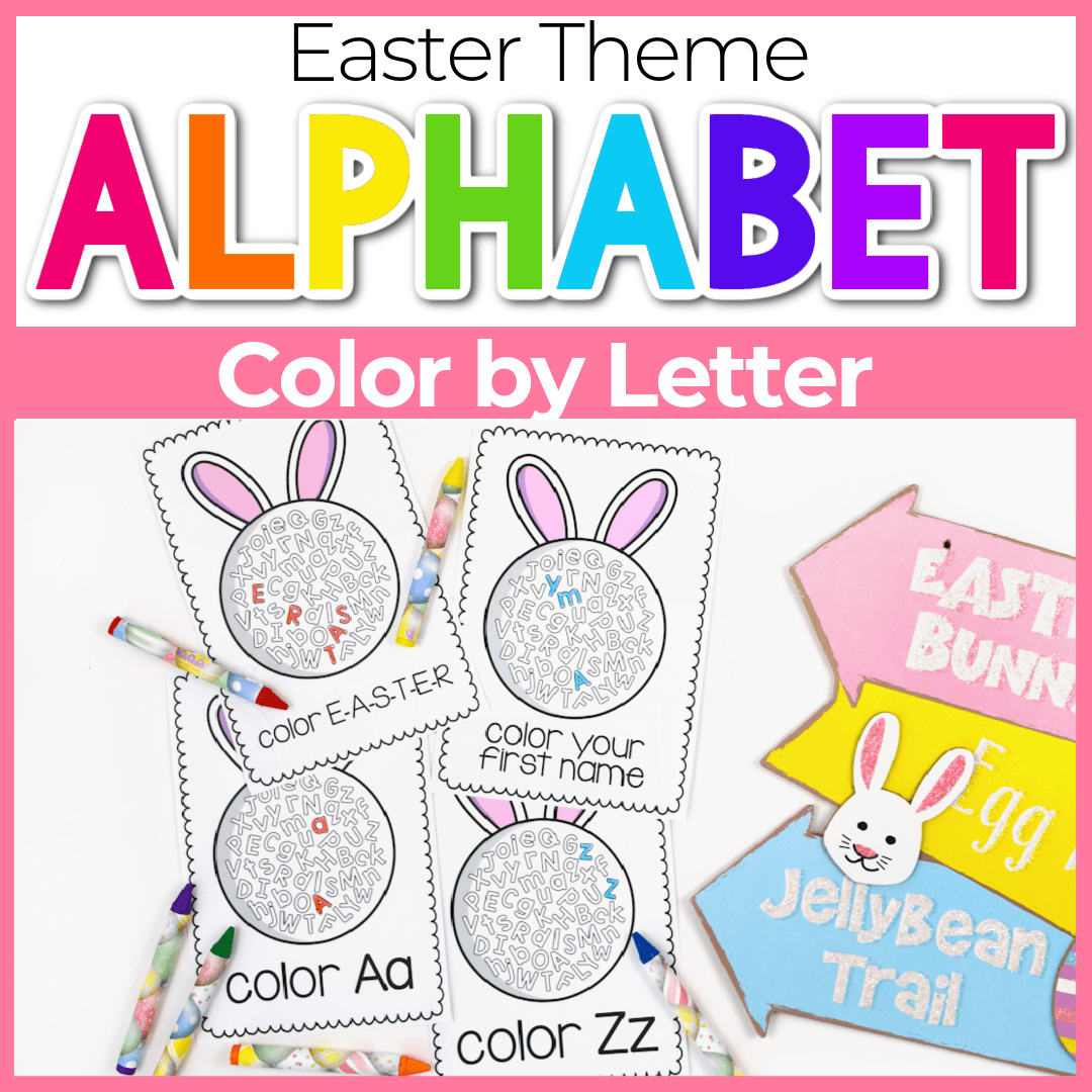 Free Printable Letter Coloring Pages for Easter