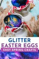 Glitter Galaxy Easter Eggs
