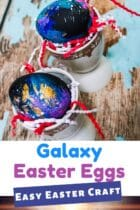 Galaxy Easter Eggs Easy Easter Craft