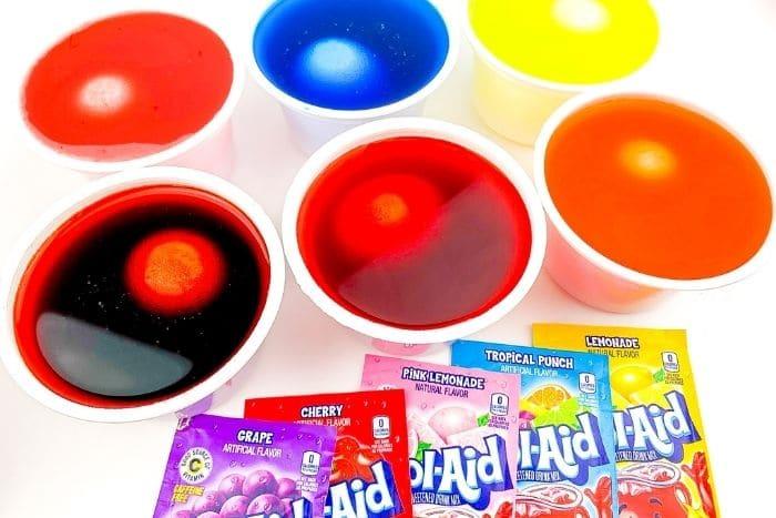 Kool Aid Egg Dye.