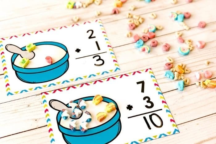 """The free marshmallow addition math mats for the numbers """"10"""" and"""