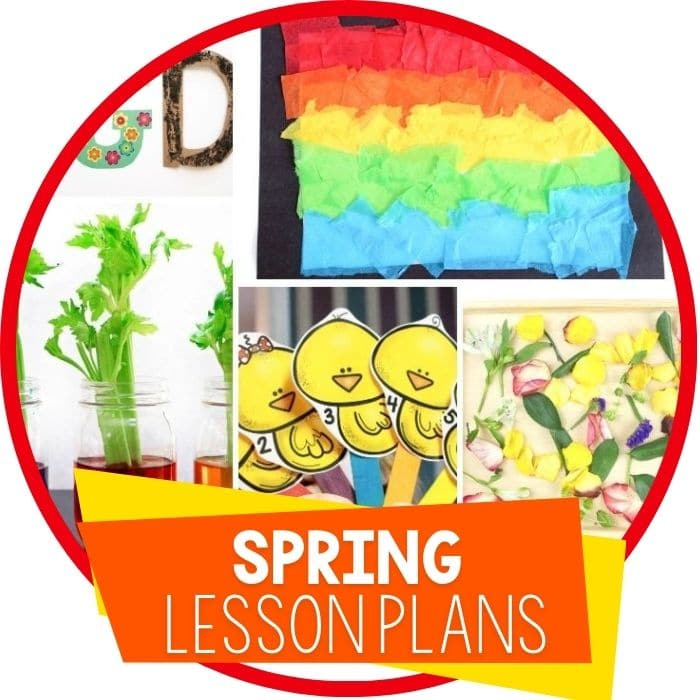 preschool lesson plans spring featured image