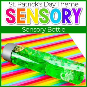 St. Patrick's Day Homemade Sensory Bottles Featured image
