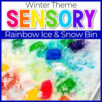 Rainbow Snow Sensory Bin