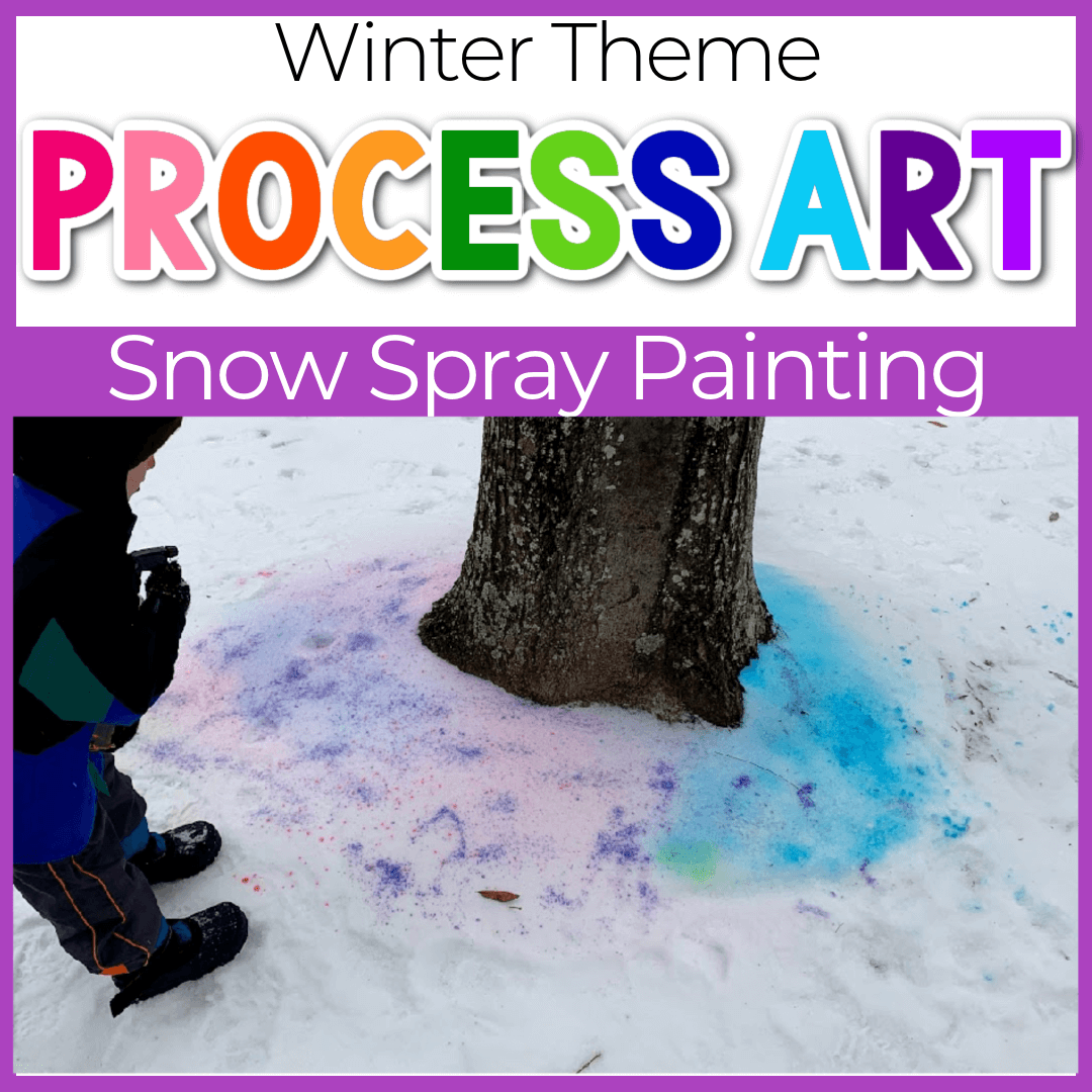Snow Spray Paint Winter Art Projects for Preschoolers