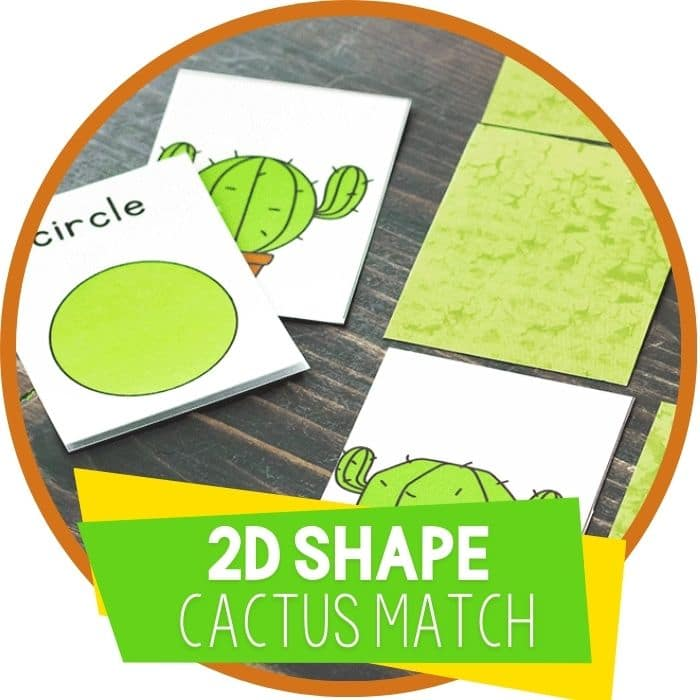 2d shape cactus desert matching game featured image