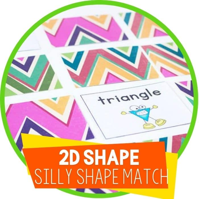 2d shape silly shape matching game featured image