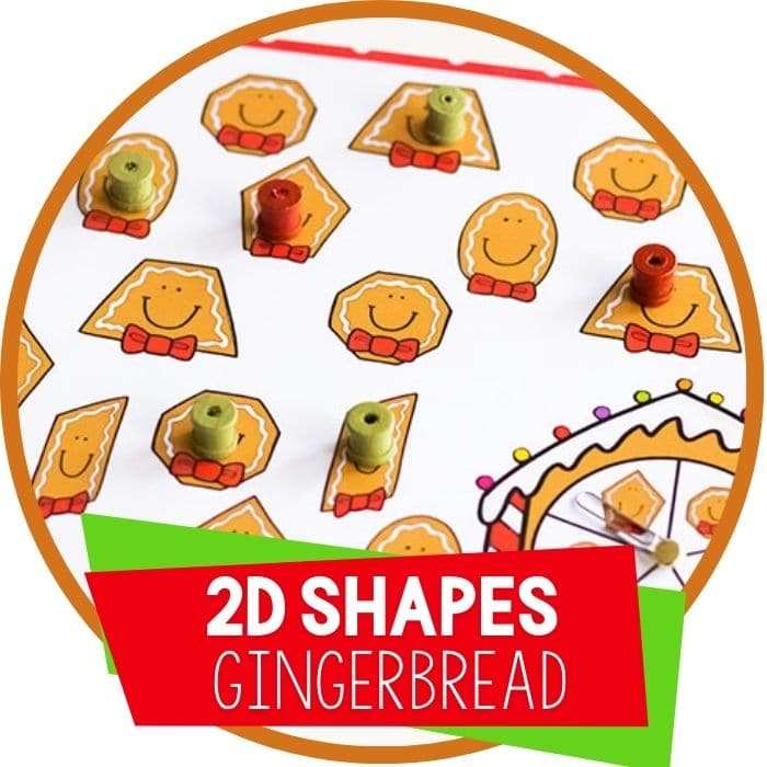 Free Printable Gingerbread Shapes Activities