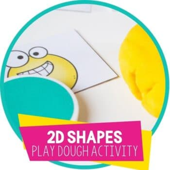 2d shapes play dough matching activity featured image