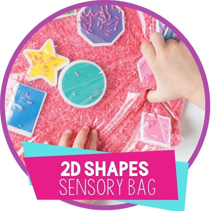 2d shapes sensory bag featured image