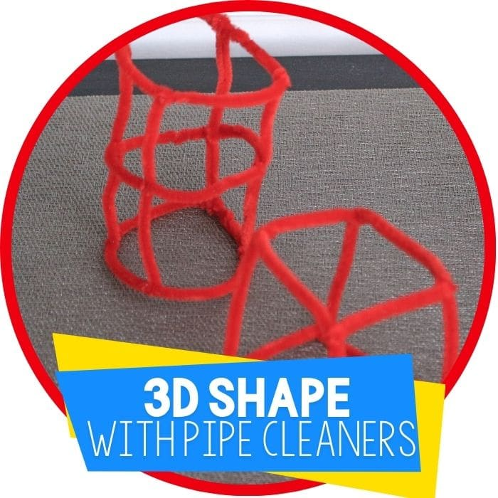 3D Shapes Activity with Pipe Cleaners