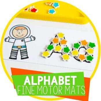 alphabet fine motor mats for mini erasers, tracing, using Wikki Stix, and play dough Featured Image