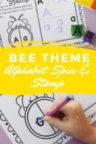Bee Theme Alphabet Spin and Stamp