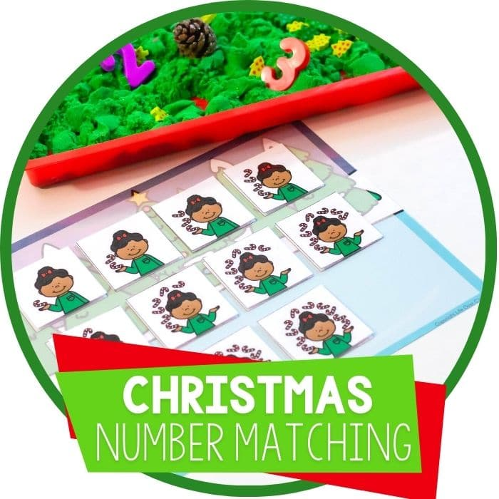 Christmas number matching sensory featured image