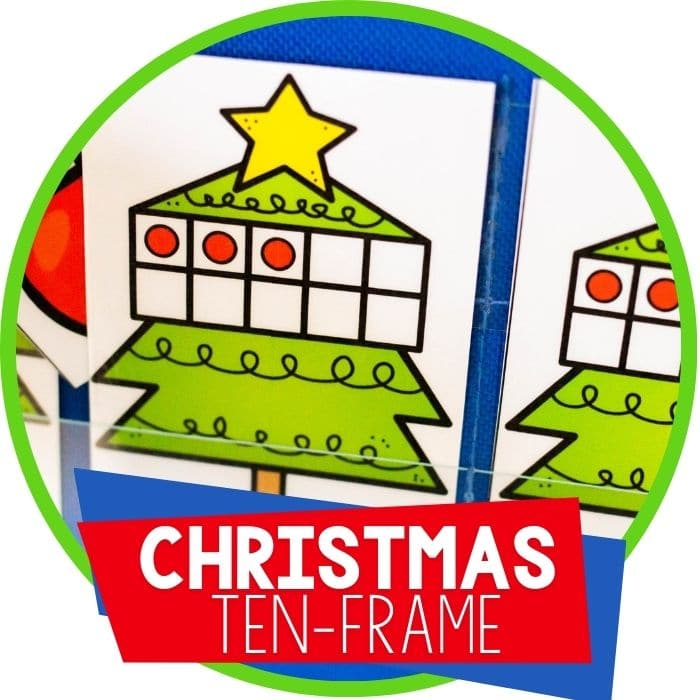 Christmas Tree Ten-Frame Hide and Seek Game