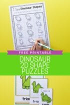 Free Printable Dinosaur 2D Shape Posters