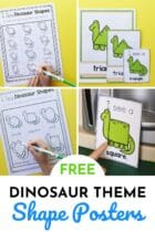 Free Dinosaur Theme Shape Posters