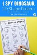 I Spy Dinosaur 2D Shape Posters